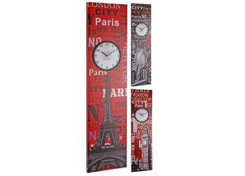 купить Часы настенные на холсте 100X25cm в Кишинёве