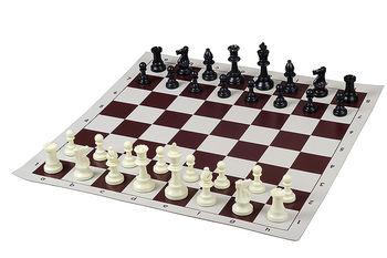 Доска для шахмат / шашек виниловая 51 см DMV03A, brown (5247)