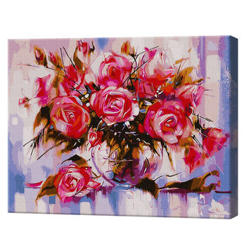 GX9898 Розовые розы Картина по номерам 40x50 см
