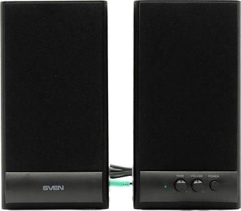 "Speakers SVEN SPS-609 Black,  2.0 / 2x5W RMS, wooden, 3"""