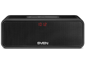 SVEN PS-170BL Portable Bluetooth speaker, 10W (2 x 5W), 100Hz–22kHz, Microphone, LED display, FM-tuner, microSD, Li-Ion 2200 mAh, USB (boxe portabile sistem acustic/колонки портативные акустическая сиситема), www