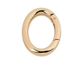 Inel carabină oval / auriu