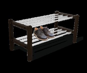 купить Полка для обуви   венге/алюм.металл ПЛТ175 в Кишинёве