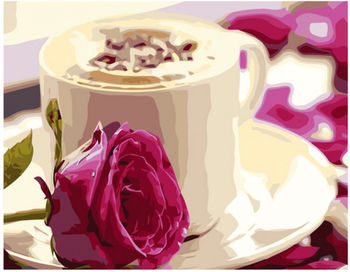 Картина по номерам 40x50 Утренний кофе VA0228