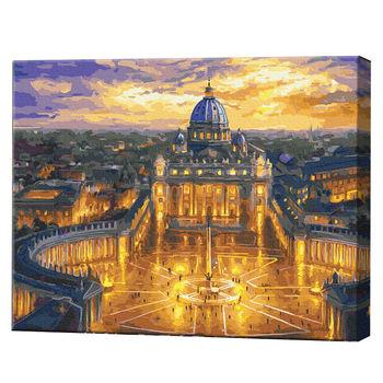 Вечерний Ватикан, 40х50 см, картина по номерам Артукул: GX23730