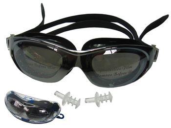 Очки для плавания+беруши, в футляре