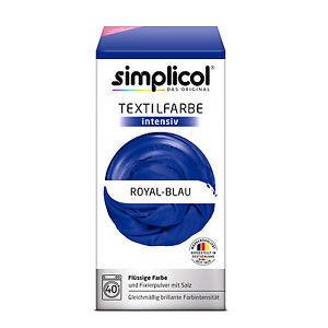 SIMPLICOL Intensiv - Royal-Blau, Vopsea pentru haine si textile in masina de spalat, Royal-Blau