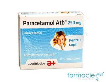 купить Paracetamol supp. 250mg N6 (Antibiotice) в Кишинёве