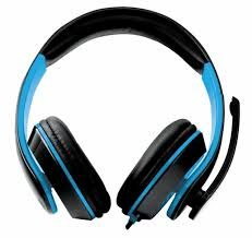 """Esperanza EGH300B """"CONDOR"""" Blue, Stereo audio Headphones with Microphone and Volume control, 2 x mini-jack 3.5 mm, 2 m cable lenght, for gamers"""