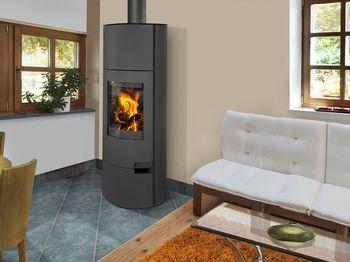 Каминная печь ROMOTOP LUGO 03 W (сталь) с теплообменником