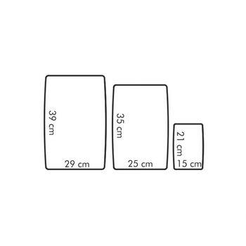 Set tocatoare flexibile din plastic, 3 buc