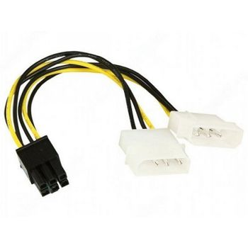 "Cable CC-PSU-6 Internal Power Adapter Cable for PCI-E 6-pin, 1x5.25"", Power male to 1x5.25"" Power"