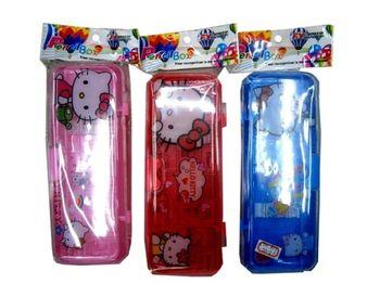 """Пенал пластиковый """"Hello Kitty"""" 20X8X3cm, 2-х ярусный"""