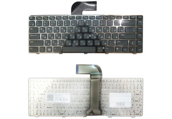 Keyboard Dell Inspiron N4110 N4120 N4050 M4110 M4040 N5040 N5050 3520 3550 5420 5520 7420 7520 XPS L501 L502 Vostro V131 3330 3450 3460 3550 3555 3560 3350 1440 1450 1540 1550 2420 2520 ENG/RU Black
