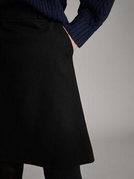 Юбка Massimo Dutti Чёрный 5206/906/800