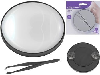 Набор зеркальце D9cm, пинцет для бровей