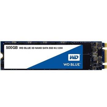 M.2 SATA SSD 500GB  Western Digital WDS500G2B0B  Blue 3D, Interface: SATA 6Gb/s, M.2 Type 2280, Sequential Read: 550 MB/s, Sequential Write: 525 MB/s, Max Random 4k: Read: 95,000 IOPS / Write: 81,000 IOPS, Marvell 88SS1074 controller, 3D NAND TLC