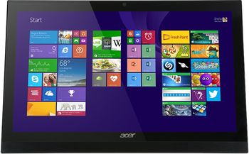"All-in-One PC - 21,5"" - Acer Aspire Z1-622 FullHD (DQ.SZVME.003) Intel® Pentium® Quad Core N3700 1,6-2,4 GHz, 4Gb DDR3 RAM, 1TB HDD, DVD-RW, Card Reader, Intel® HD Integrated Graphics, HD webcam, Wi-Fi+BT, Gigabit LAN, 65W PSU, FreeDOS, KB/MS, Black"