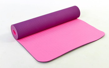 Коврик для йоги с люверсами 182х65х0.6 см TPE (2450)