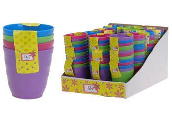 Набор стаканов EH 4шт, разных цветов, пластик