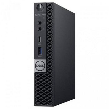 DELL Optiplex 7060 MFF Intel® Core® i7-8700Т (6 Cores/12MB/12T/up to 4.0GHz/35W), 16GB 1X16GB DDR4 DDR4, M.2 256GB SSD, Intel UHD 630, WiFi 802.11ac + BT, TPM, no ODD, 90W AC Adapter, USB mouse, USB KB216-B, Win10Pro, Black