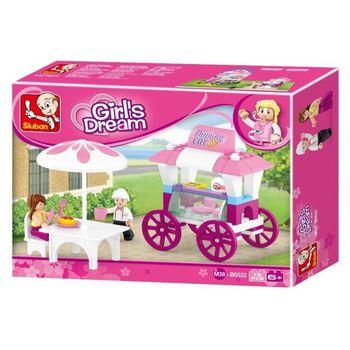 купить Sluban Girls Dream Конструктор Кафе на колесах в Кишинёве