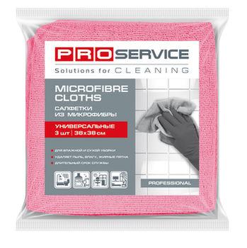 купить Салфетки PROservice из микрофибры универсальные Standard, 3 шт, красныйе в Кишинёве