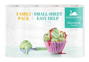 Полотенца бумажные Harmony Absorbent Practik Family Pack 2 слоя 11м*4