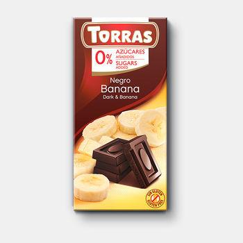 Ciocolata neagra & banana f/a zahar f/a gluten Torras 75g
