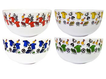 Salatiera D14 сm, fructe de padure/flori/ campion, din ceramica