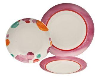 Тарелка десертная 20.3сm Venere, круги, сиреневая, фарфор