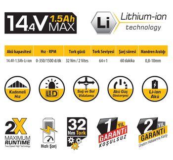 cumpără Mașina de găurit cu acumulator SGS 5132 14.4V în Chișinău