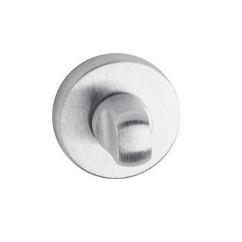 Дверная ручка на розетке Corsa хром сатин + накладка WC