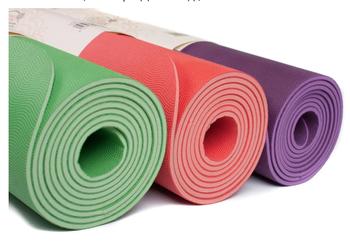 Коврик для йоги (каучук) 185x60x0.4 см Bodhi EcoPro 656 (429)