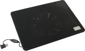 "купить DEEPCOOL ""N1 BLACK"", Notebook Slim Cooling Pad up to 15.6"", 1 fan - 180mm  with fan speed control button, 600-1000rpm, <16~20 dBA, 84.7CFM, Portable & slim design -only 2.6cm, USB pass-through connector, Metal Mesh Panel, Black в Кишинёве"