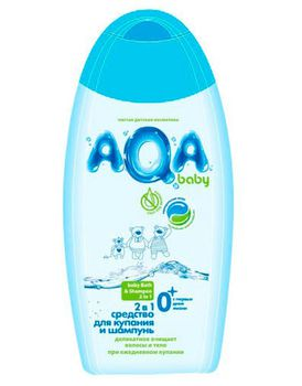 купить AQA baby Средство для купания и шампунь 2 в 1 500 мл в Кишинёве
