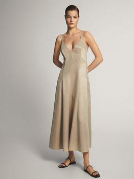 Платье Massimo Dutti Беж 6649/580/806