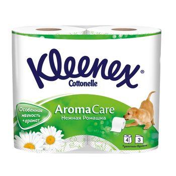 Туалетная бумага Kleenex Camomile, 4 рулонов, трехслойная
