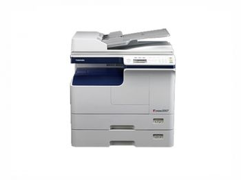 MFP Toshiba e-Studio 2007i, Mono Copier/Printer/Scanner/ADF,Duplex,Net, A3/14ppm, A4/20ppm, 2400x600dpi, 25–400%,52-163g/m2,512Mb,1x250+100-sheet ,55k pag per month, Set: Drum OD-2505_55k pag, Developer D-2505_55k pag, Toner T-2507E_12k par A4 at  6%