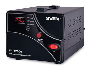 SVEN Automatic Voltage Regulator VR-A2000, 2000VA/1200W, Input 140~275V, Output 230V -14/+10%, 1 socket (stabilizator de tensiune/стабилизатор напряжения)