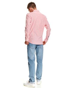 Рубашка TOP SECRET Коралловый в полоску skl2866