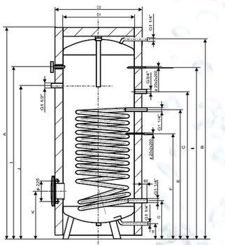 купить Drazice OKC 1000 NTR/1 МПа бойлер косвенного нагрева в Кишинёве