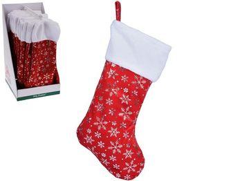 Сапог новогодний для подарков Снежинка 42сm, текстиль