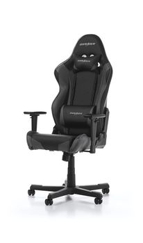 Gaming Chairs DXRacer - Racing GC-R001-NG-W1, Black/Black/OBlack - PU leather, Gamer weight up to 100kg / growth 165-195cm, Foam Density 50kg/m3, 5-star Nylon Base, Gas Lift 4 Class, Recline 90*-135*, Armrests: 3D, Pillow-2, Caster-2*PU, W-23kg