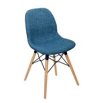 купить Стул пластиковый с мягким сиденьем, деревянные ножки 485x460x855 мм, в Кишинёве