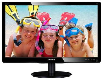 "Monitor 21.5"" PHILIPS LED 226V4LAB Glossy Black (5ms, 10M:1, 250cd, 1920x1080, DVI, Speakers, Slim Design)"
