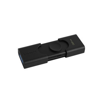 32GB USB3.2 Kingston DataTraveler Duo, USB-A + USB-C, Innovative dual slider casing (Read 100 MByte/s, Write 15 MByte/s) (memorie portabila Flash USB/внешний накопитель флеш память USB)
