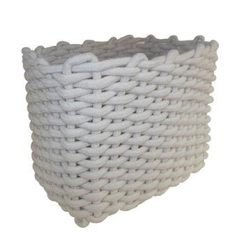 cumpără Coş din cordon 400x300x340 mm, alb în Chișinău
