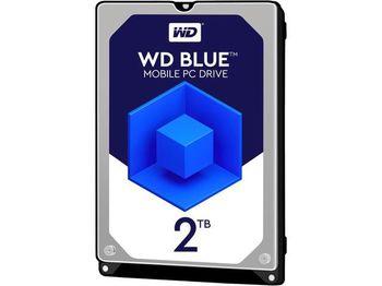 """2.5"""" HDD 2TB  Western Digital WD20SPZX, Blue™, 5400rpm, 128MB, 7mm, SATAIII"""