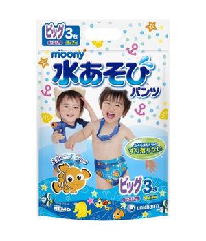 купить Трусики для плаванья Moony XL (12-17 кг) для мальчиков 3 шт в Кишинёве